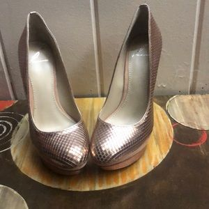 Brian Atwood high heels bronze size 7
